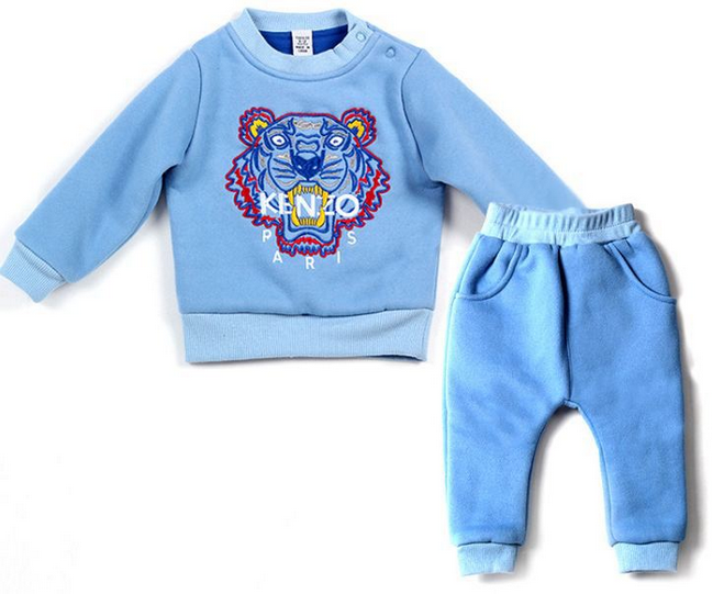 Baby long sleeves pyjama set with cute animal red and blue