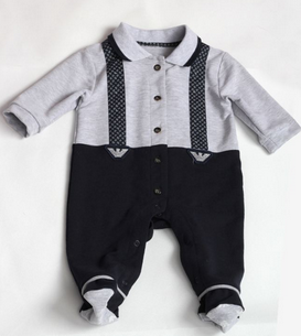 overall gentleman suspender trousers with long sleeves shirt