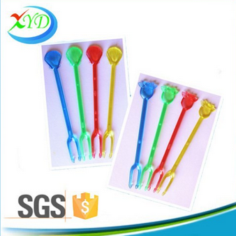 Party decoration colored fruit fork for sale