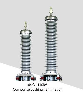 66-110 KV XLPE Power Cable Pre-molded Composite Bushing Outdoor Termination