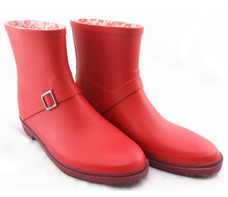 2015 last fashion new style rubber rain boots for ladies