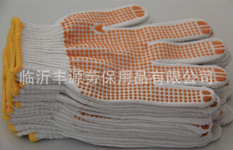 Hot sell 60g pvc dotted cotton glove
