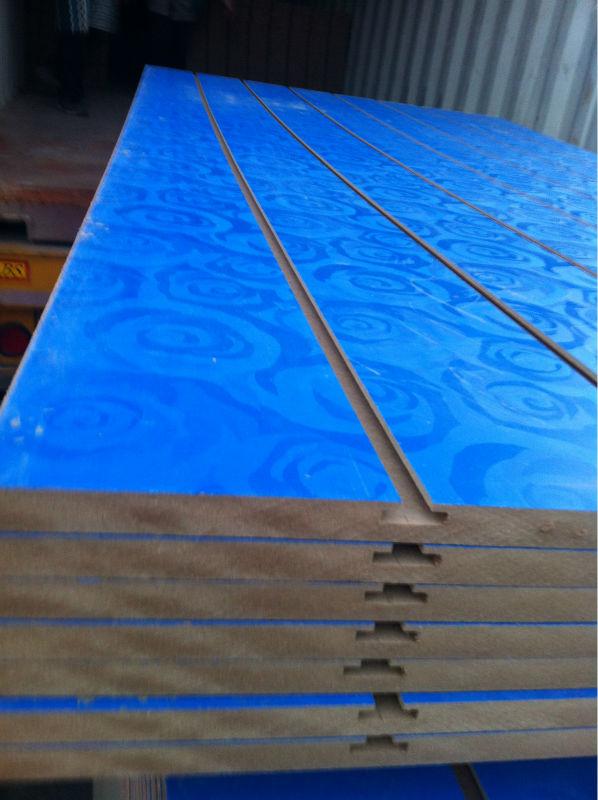 2015 latest hot Melamine MDF slatwall panels plywood with rose printed