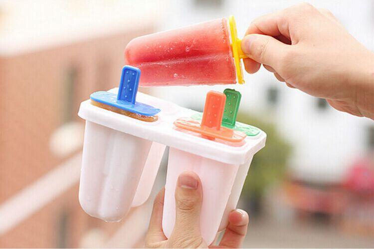 Non stick 4 cavities silicone ice cream mould