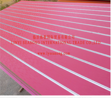 China 1220*2440mm*15mm 18mm display slotted mdf with aluminium