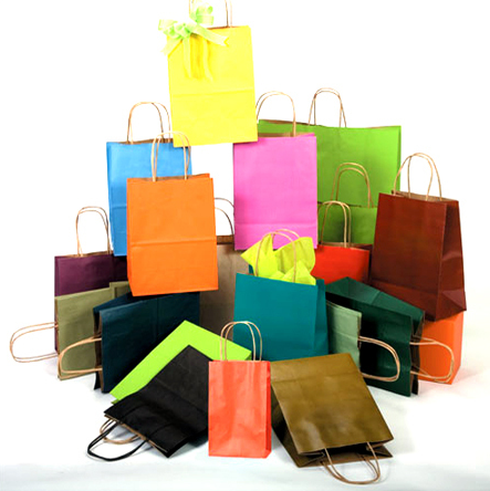 threek raft paper bags in one group