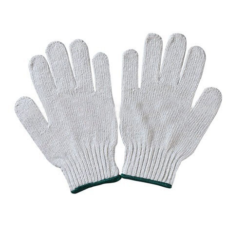 Cheap white nylon gloves for working