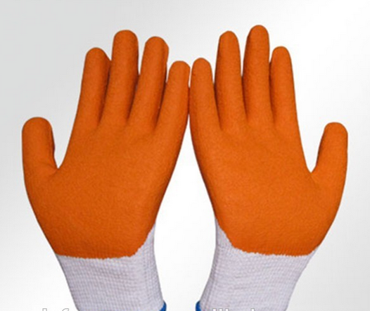 10g white cotton liner latex coated work gloves for industrial use