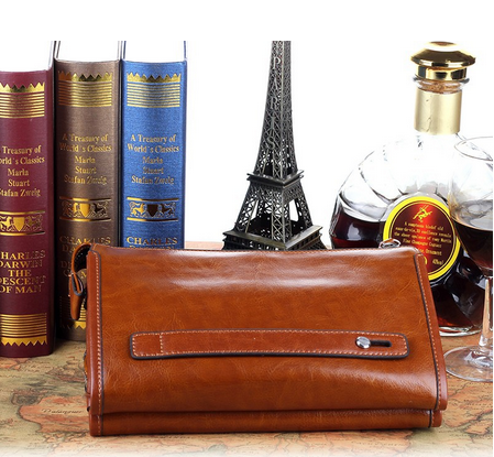 wholesale leather clutch bag for men