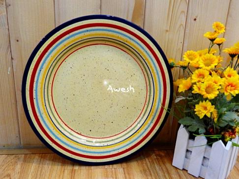 Porcelain semi bone china shabby chic dinner plates