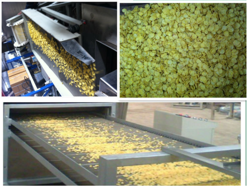 Large capacity 500kgs/hr Corn flakes extruding machine with CE