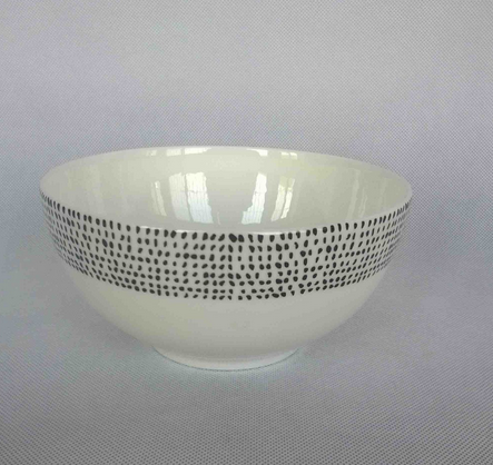 Bowl with decal fine bone chian