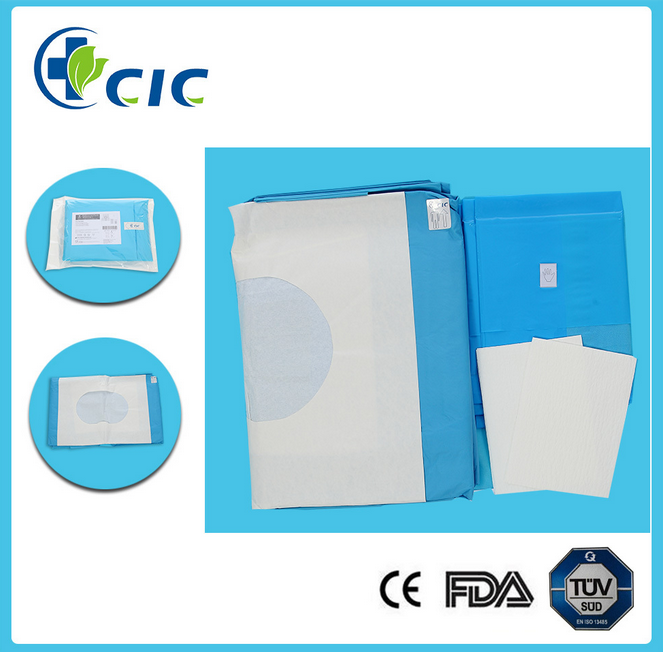 High quality disposable doctor c-section drape pack by CE and ISO
