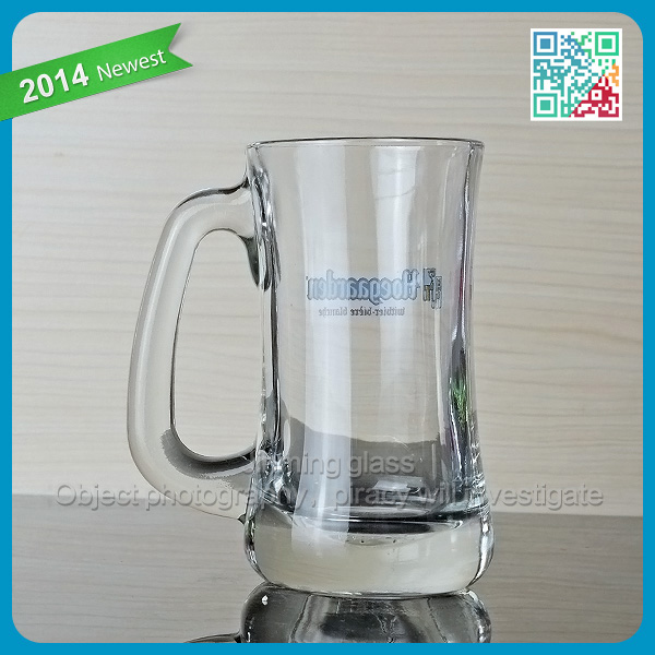 High quality german glass beer mug with handle