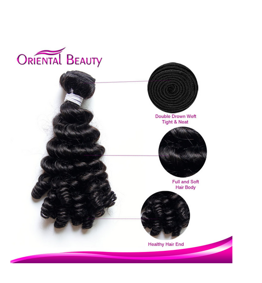 Fashionable Unprocessed Natural Color 1b Brazilian Single Drawn Remy Human Hair Weaving