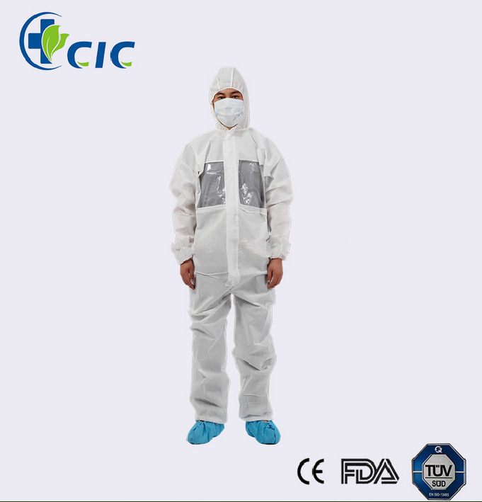 Wholesale long sleeve lightweight disposable white coveralls XL