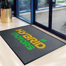 Printed logo flooring outdoor mat