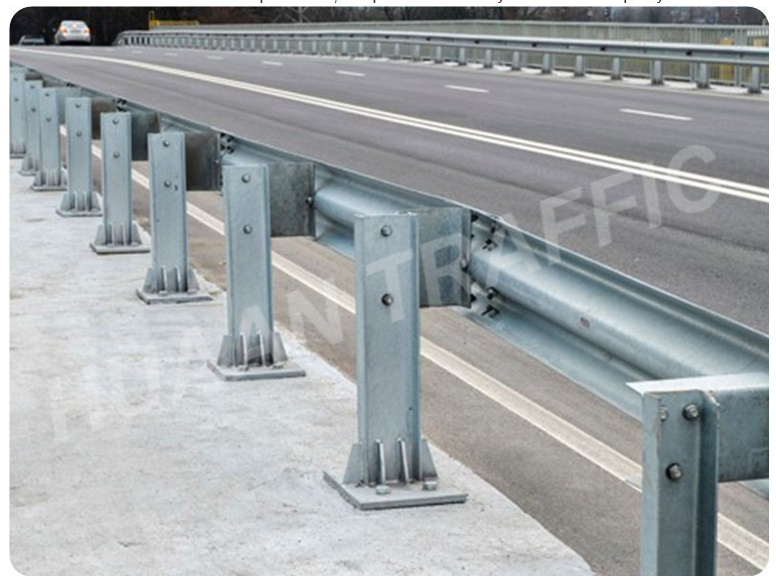 highway steel barrier stanchion