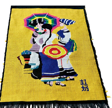 Bright Color Chinese Wall Hanging Tapestry