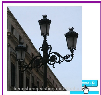 Spanish style antique Aluminum Casting Street Light Pole light
