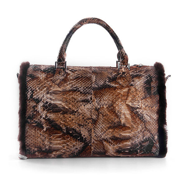 2015 Alibaba China Ladies python skin handbags genuine python skin bag