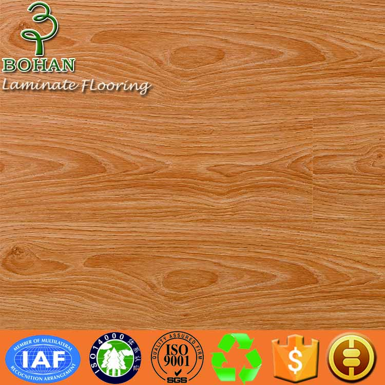 Water proof high gloss laminate flooring AC4 AC3 12mm