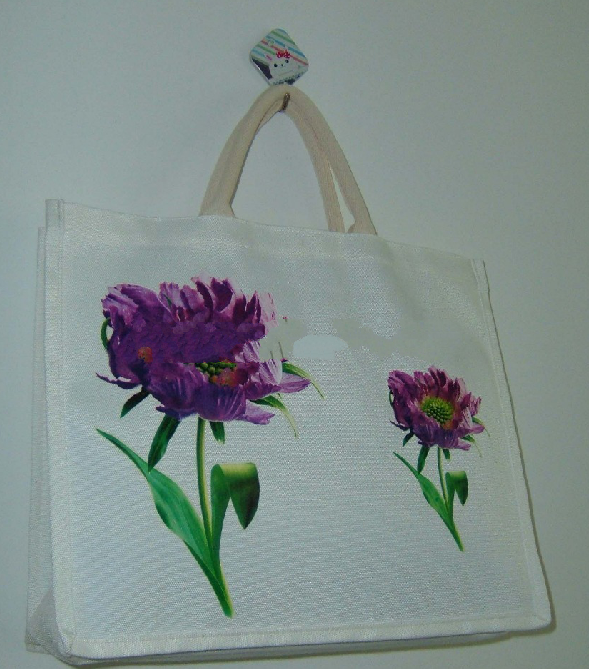 Promotional beautiful RPET canvas tote bag