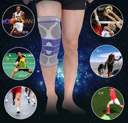 New Products Sport Spring Knee Support , Elastic Knee Brace Sleeve