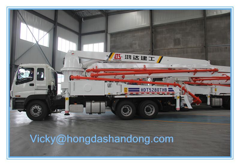 HONGDA High Quality 37m/38m/39m/42m/45m/48m/52m/56m Concrete Pump Truck