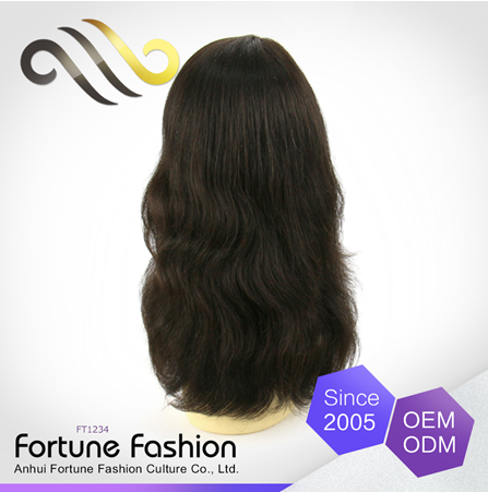 New 2016 iBeauty human hair wig full machine made, 100 human hair Indian natural wave lace front wig