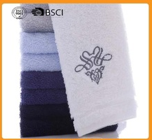 embroidered custom logo high quality 400gsm home use terry cotton towel