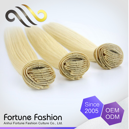 New trend high quality blonde human hair weave, brazilian remy hair weft, wholesale colored brazilian hair