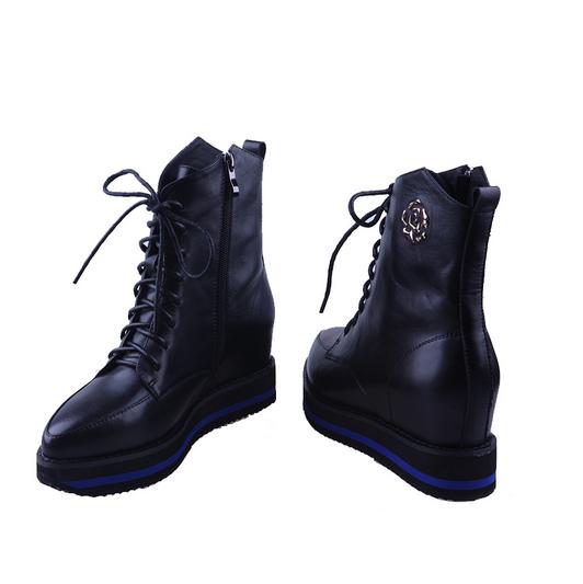 women leather hidden heel platform EVA sole nylon zipper ladies ankle boots
