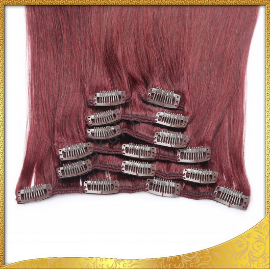 Best Quality Raw Unprocessed Clips in Hair Virgin Indian Hair Human Hair Extensions