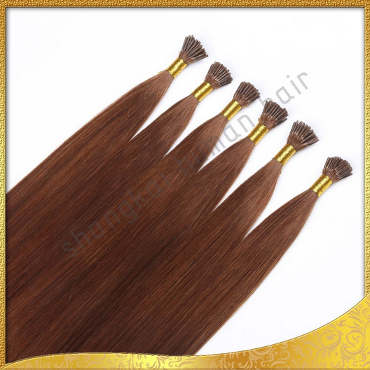 Wholesale Double Drawn Brazilian Remy I Tip Hair Extensions