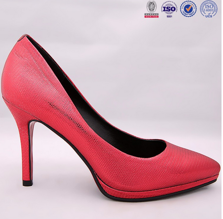 The spring 2015 new sexy high professional leather with shallow single shoes fine leather