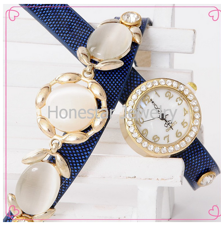 HONESRAR Wholesale Pu Leather Watch Material Diamond Ladies Watch