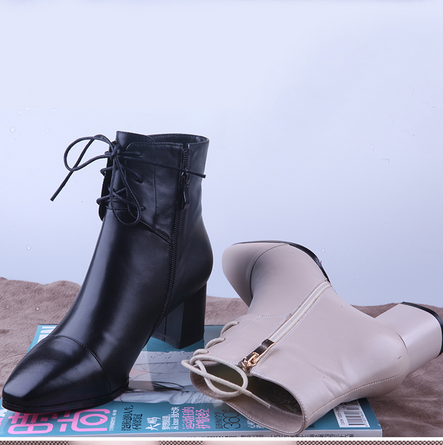 Latest new design leather women winter wholesale teen girls lady long ankle shoes boots
