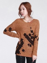 beautiful lace embroidery woman sweater