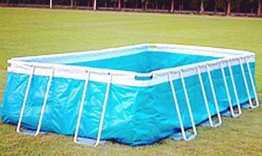 rectangular metal frame pool