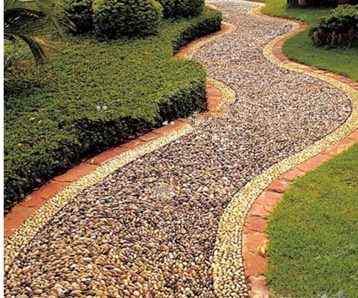 Natural river pebble stone in bulk for garden decoration