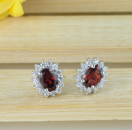 Fashionable jewelry With Natural gemstones Earrings_Simple Love SG0003E