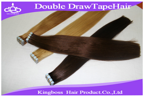 Quality double drawn tape hair extension/double drawn tape hair extensions/cheapest human hair extensions