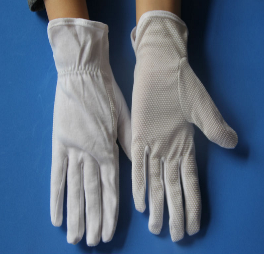 19-22g white cotton working gloves for delicate work