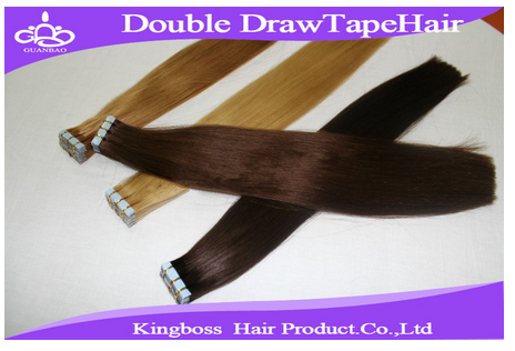 Quality double drawn tape hair extension/double drawn tape hair extensions/cheap real human hair extensions