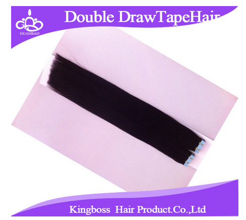 Quality double drawn tape hair extension/double drawn tape hair extensions/brazilian human hair extensions