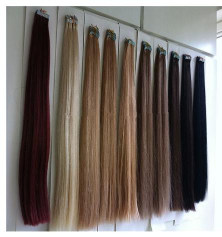 blond color tape hair extension 40pcs 100g brazilian hair wholesale