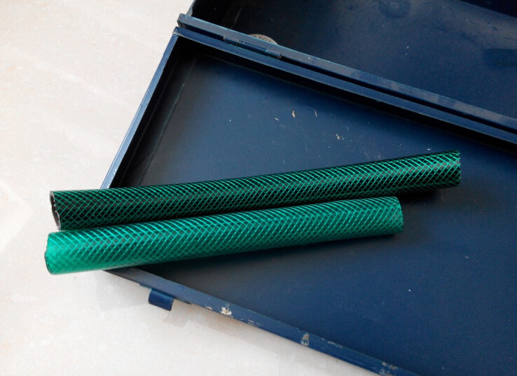 Green Braided Flexible PVC Hose Pipe for Water Air Oil Gases Reinforced