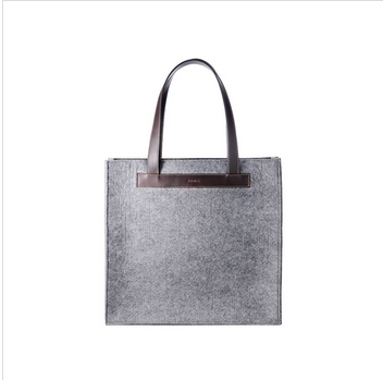 Eco-friendly grey color felt tote bag