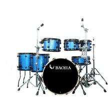 7pcs Royal Blue Light High Quality Jazz Drum Set